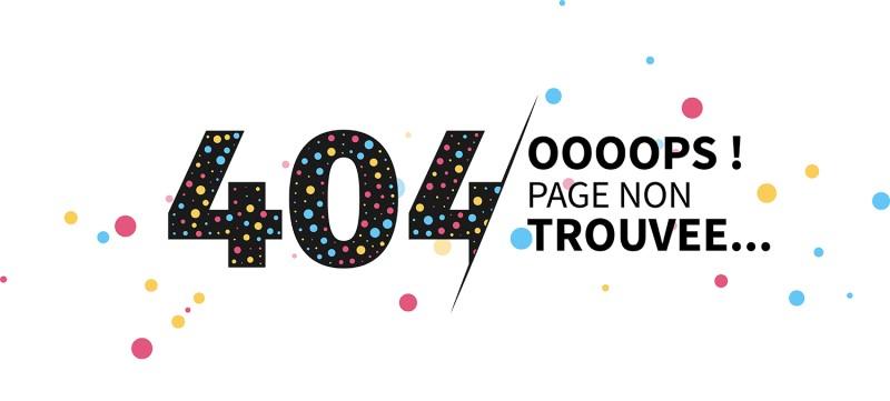 erreur 404 Page non trouvée
